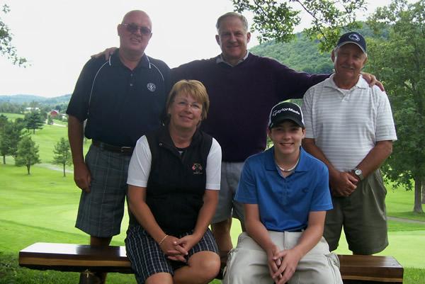 Back: John Heffner (Seniors), Mark Young (Men), Dave Kolar (Super Seniors) Front: Sue Held (Ladies), Dakota Ruef (Juniors)